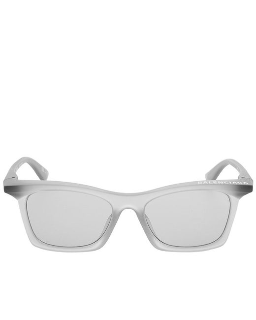 Balenciaga Men's Grey Rim Rectangle Sunglasses