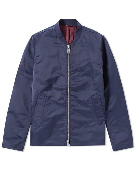 Saturdays NYC - Blue Julian Satin Jacket for Men - Lyst