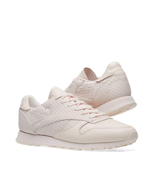 95cce68eb1eff Lyst - Reebok Classic Cl Leather W in Pink - Save 36%