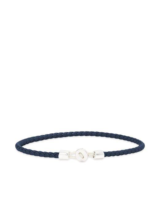 Miansai Blue Nexus Leather Bracelet for men