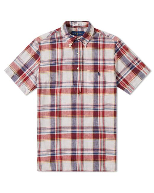 Polo Ralph Lauren | Red Button Down Popover Madras Shirt for Men | Lyst