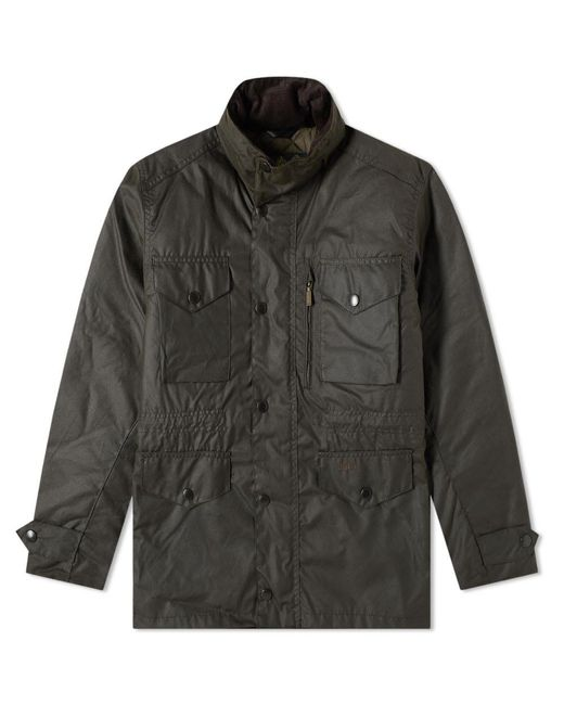 Barbour Green Sapper Wax Jacket for men