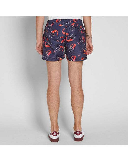 c56715c3d8bda Paul Smith Men Short Classic Prawn in Blue for Men - Save 39% - Lyst