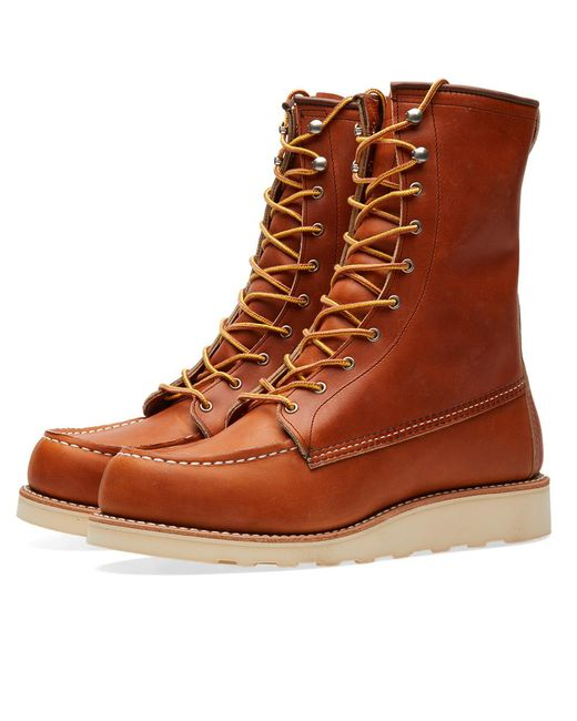 """Lyst - Red Wing Women's 3427 Winter 8"""" Moc Toe Boot in Brown"""