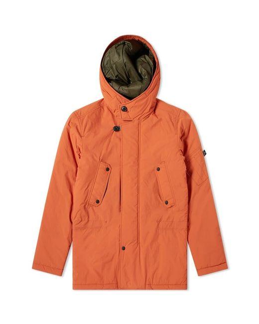 Paul Smith Orange Nylon Military Parka for men