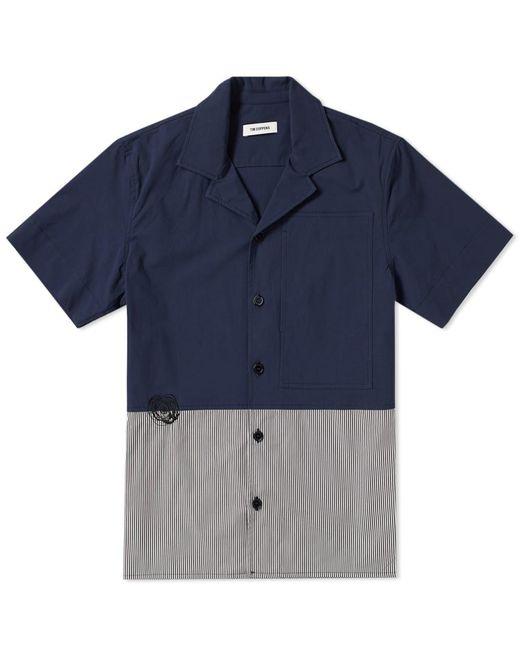 Tim Coppens - Blue Cut & Sew Stripe Panel Bowling Shirt for Men - Lyst