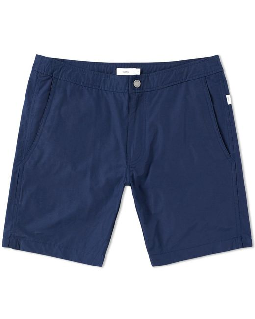 "Onia Blue Calder 7.5"" Solid Swim Short for men"