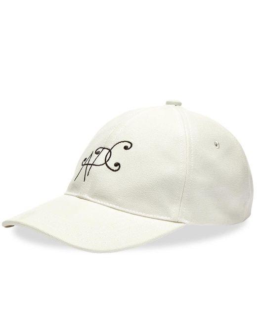 A.P.C. White Logo Cap for men