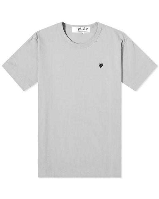 COMME DES GARÇONS PLAY Gray Embroidered Heart T-shirt for men