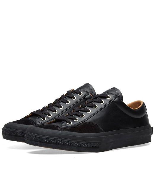Dries Van Noten - Black Leather Sneaker for Men - Lyst