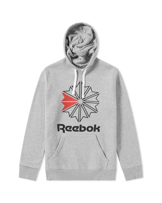 Reebok - Gray Retro Starcrest Popover Hoody for Men - Lyst