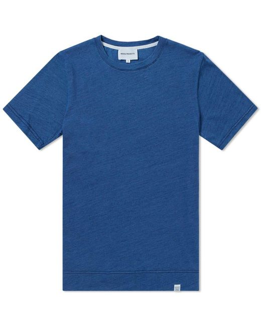 Norse Projects - Blue Niels Indigo Tee for Men - Lyst