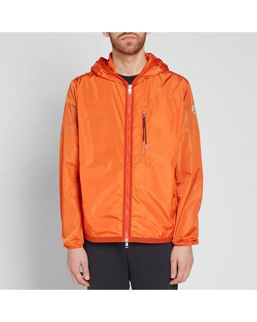 moncler orange jacket mens