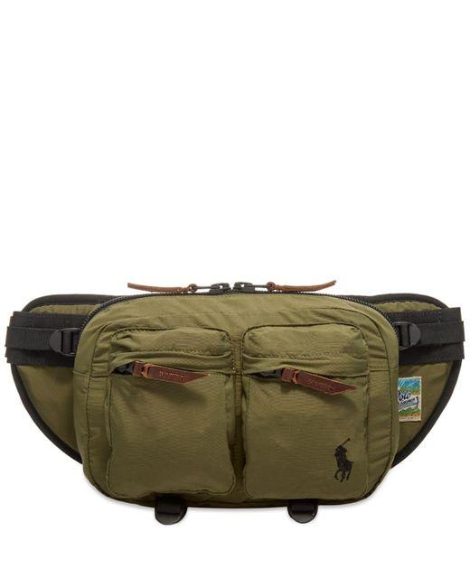 Polo Ralph Lauren Green Canvas Large Waist Bag for men