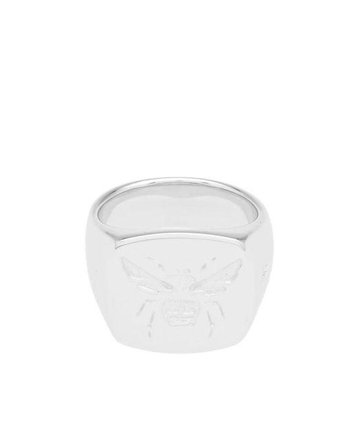 Tom Wood Metallic Bumble Bee Signet Ring for men
