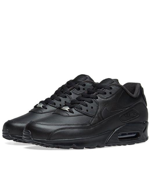 Men's Black Air Max 90 Leather