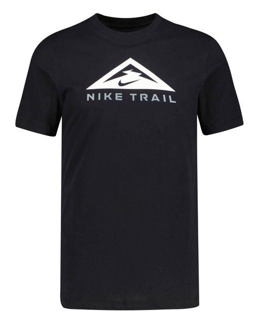 """Nike Black Laufshirt """"Dri-Fit Trail Tee"""" Kurzarm"""