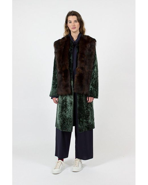 Sofie D'Hoore - Green Lust Fur Coat - Lyst