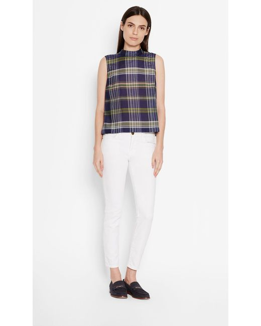 Equipment | Blue Sleeveless Cotton Benton Shirt | Lyst