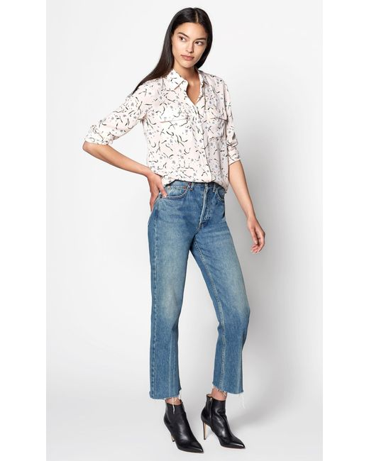 Equipment - Multicolor Slim Signature Silk Shirt - Lyst