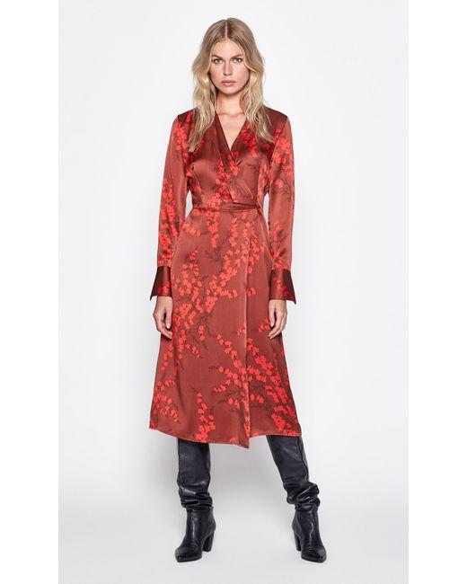Equipment Red Willowe Silk Dress