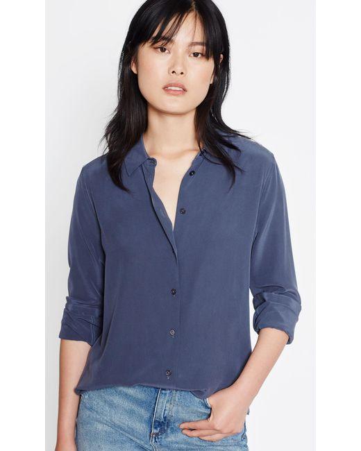 Equipment | Blue Essential Silk Shirt | Lyst
