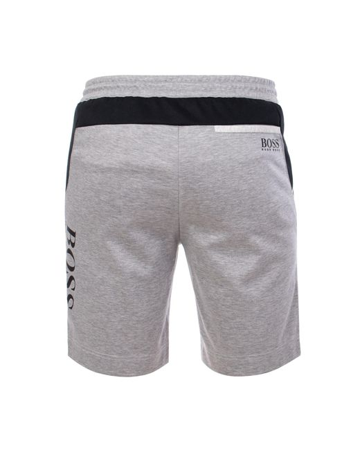 01abc5a7b ... BOSS - Gray Athleisure Hsl Slim Fit Shorts for Men - Lyst ...