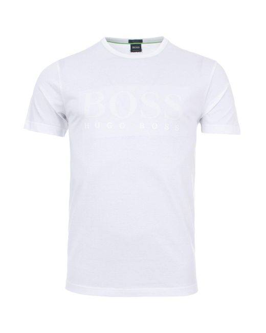 431f0a44 BOSS - White Athleisure Tee 1 Logo T-shirt for Men - Lyst ...