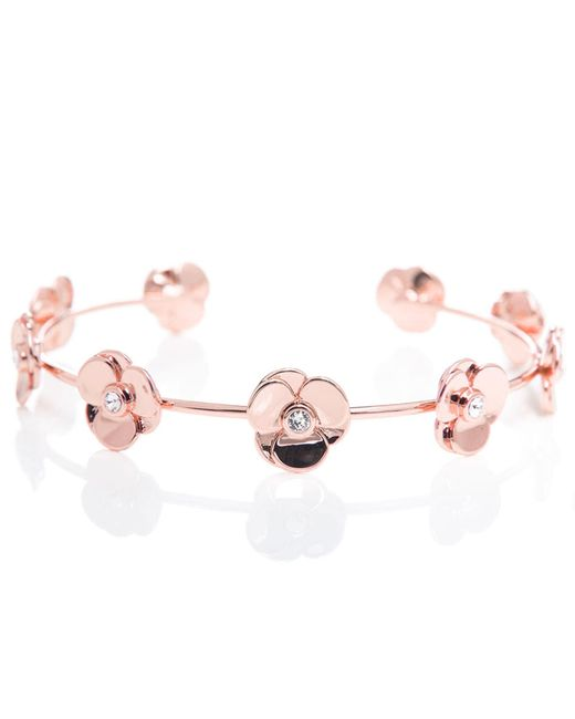 Ted Baker - Pink Parsia Flower Cuff - Lyst