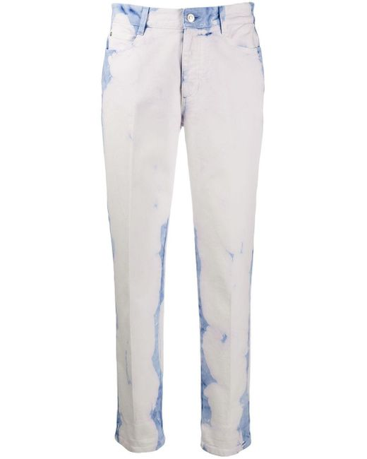 Stella McCartney White Acid Wash Straight Leg Jeans