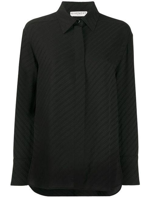 Givenchy Black Silk Chain Shirt
