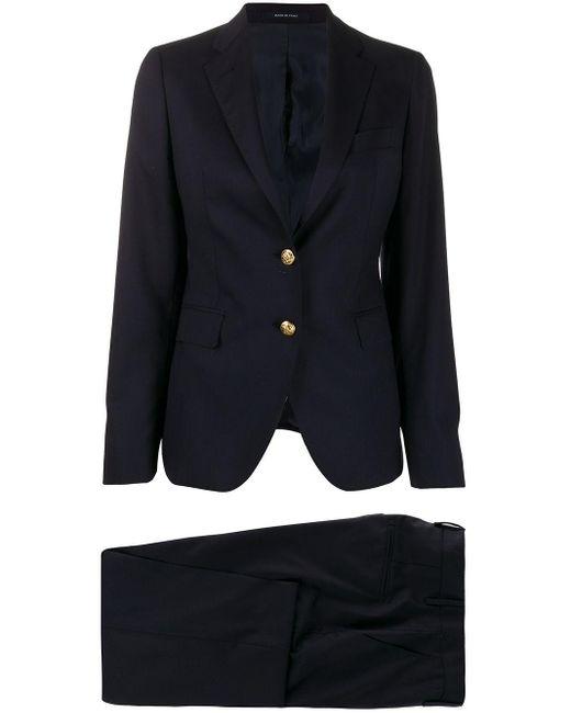 Tagliatore Blue Formal Single Breasted Suit