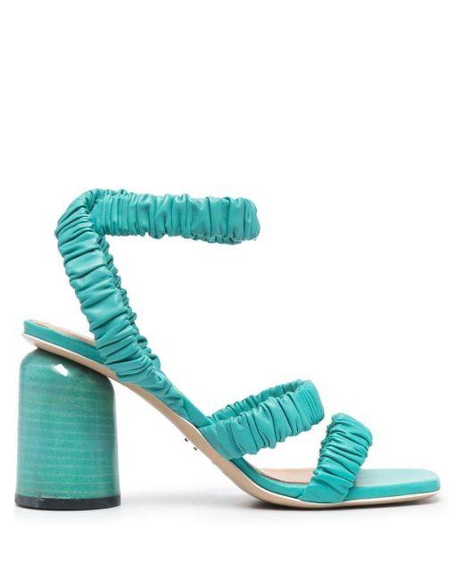 Halmanera Blue Gilda Draped Sandals
