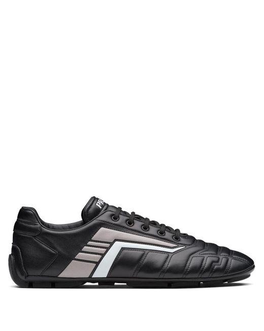 Prada Black Rev Low-top Sneakers for men