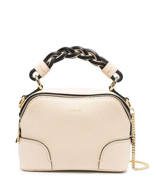Chloé Natural Braided-handle Tote Bag