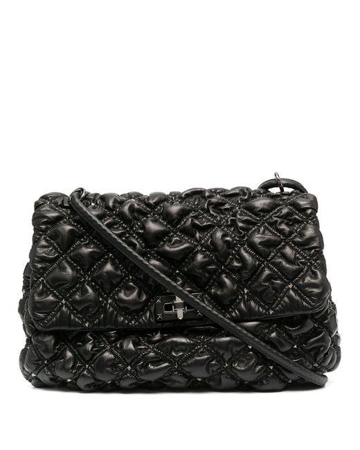 Valentino Garavani Black Quilted Rockstud Shoulder Bag
