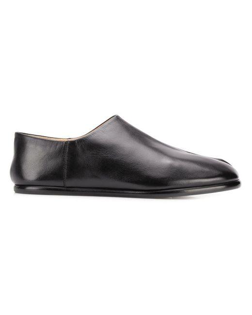 Maison Margiela Black Tabi Slip-on Shoes for men