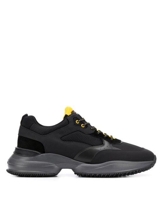 Hogan Black Interaction Sneakers for men