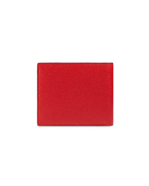 00749a00019345 ... Gucci - Red Logo Leather Bi-fold Wallet for Men - Lyst ...