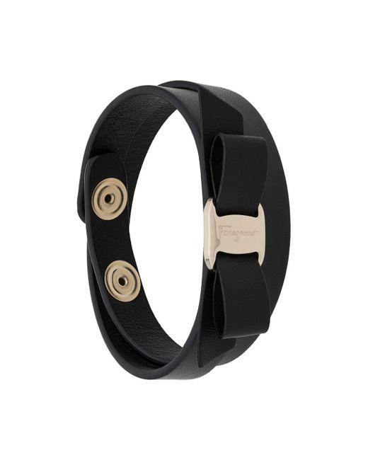 Ferragamo Black Vara Bow Bracelet