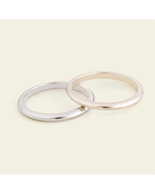Erica Weiner - Metallic Domed 2mm Recycled Gold Band - Lyst