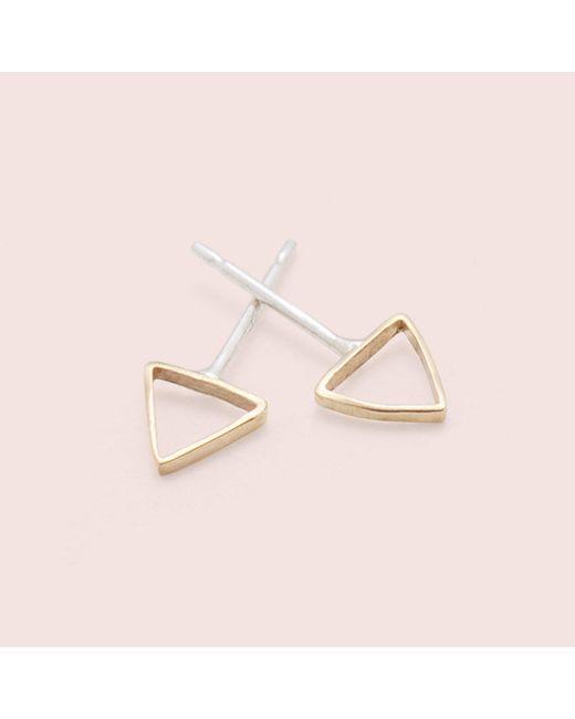 Erica Weiner | Metallic Shape Studs (triangle) | Lyst