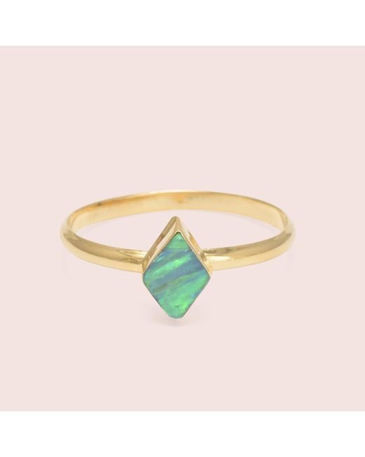 Erica Weiner | Green Golden Parallelogram Opal Rings | Lyst