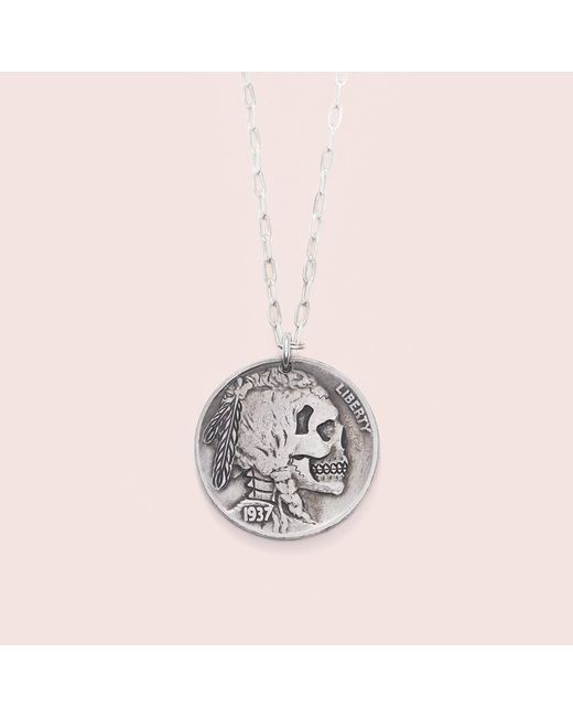 Erica Weiner - Metallic Death's Head Amulet - Lyst