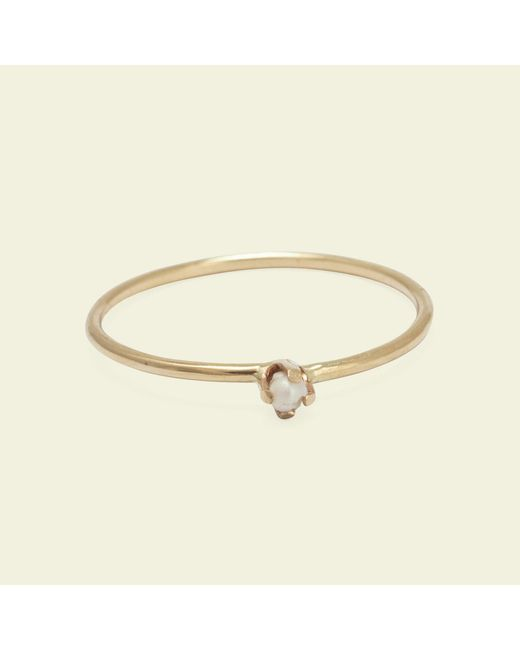 Erica Weiner - Multicolor Diamondz & Pearlz Ring (black Diamond, 14k Gold) - Lyst