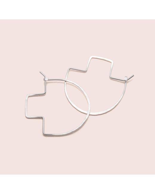 Erica Weiner | Metallic Fibula Earrings (silver) | Lyst