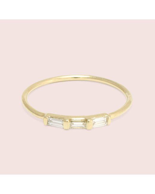 Erica Weiner - Metallic Past/present/future Diamond Baguette Ring (yellow Gold) - Lyst