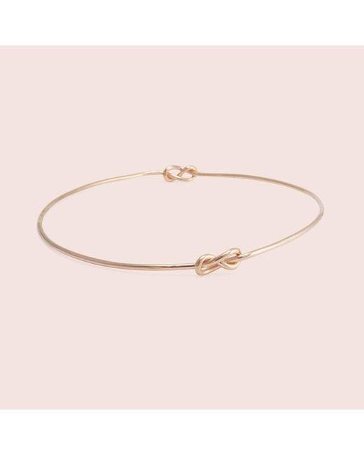 Erica Weiner | Metallic Infinity Knot Bracelet (rose Gold Fill) | Lyst