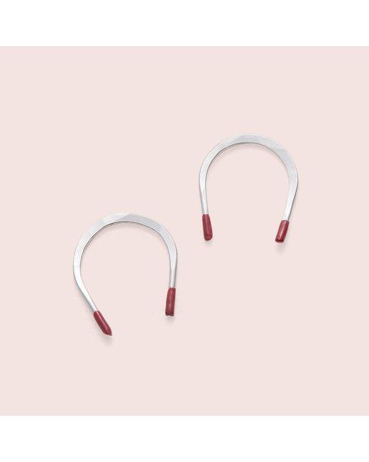 Erica Weiner | Metallic Magnet Earrings (silver) | Lyst