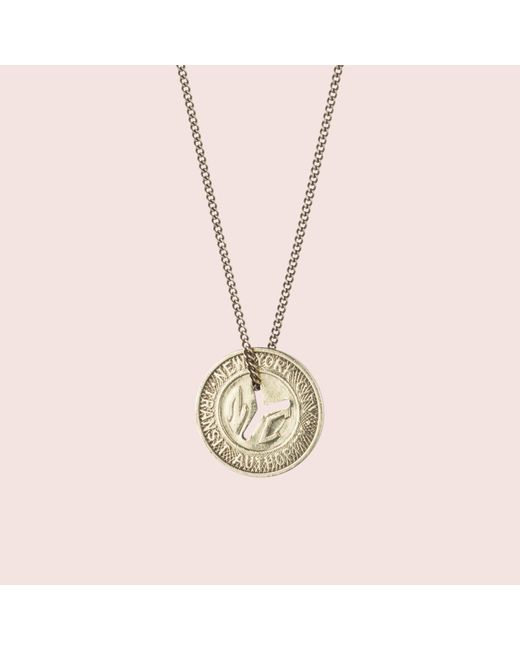 Erica Weiner - Metallic Ny Transit Token Necklace (small) - Lyst